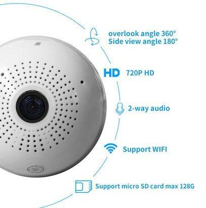 CCTV Camera Bulb Wifi 360 Fisheye Panaromic for sale