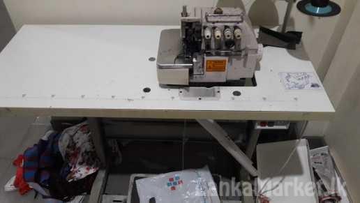 Juki five thread overlock machine