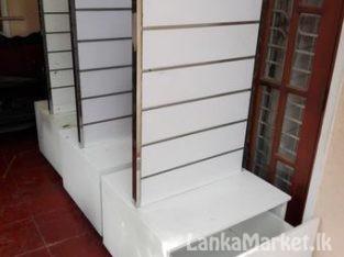 Shop Display Cupbord & Display wall Bord for sale