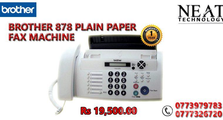 BROTHER 878 PLAIN PAPER FAX MACHINE