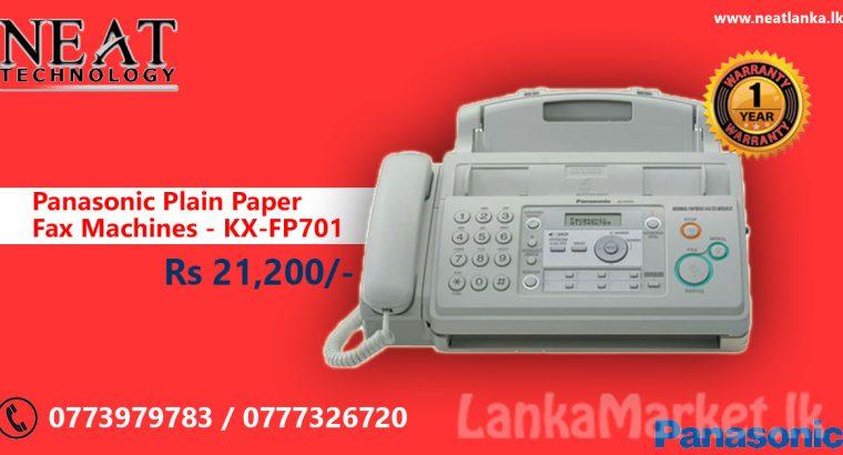 Panasonic Plain Paper Fax Machines – KX-FP701