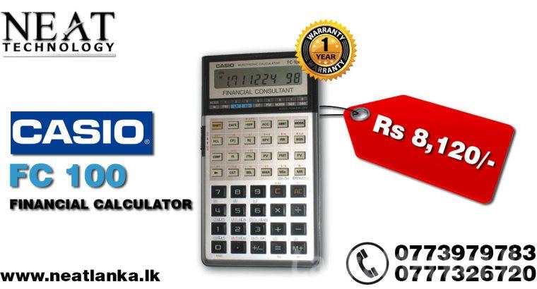 Casio FC-100 (FINANCIAL CONSULTANT)