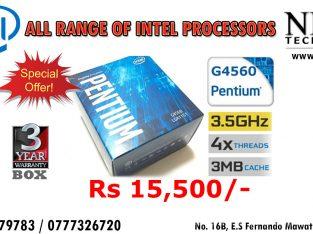 Intel G4560 Pentium Processor LGA1151 (3.5 GHZ,3MB Cache)