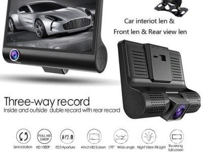 Full Hd 1080P 3 Lens Car Dvr 4
