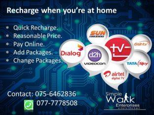TV Recharge – Videocorn/ Sundirect/ DishTv