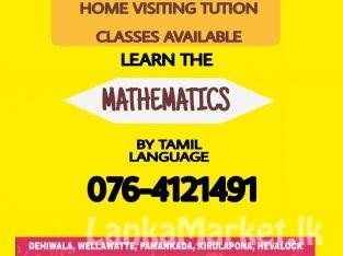Home visiting Maths class in Tamil medium