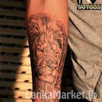 Lion and native tattoo designs in Sri Lanka