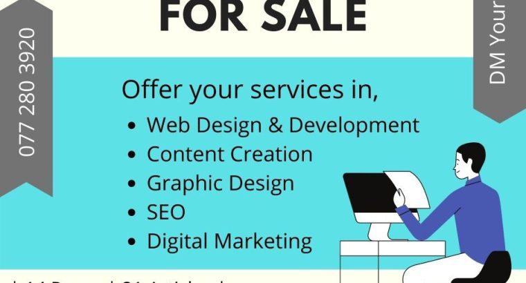 Fully Designed Website for Sale