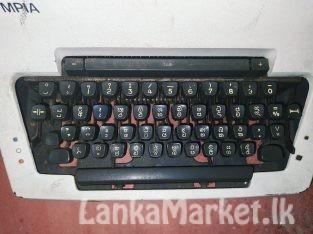 OLYMPIA Typewriter – Sinhala