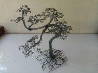 Metal bonsai tree