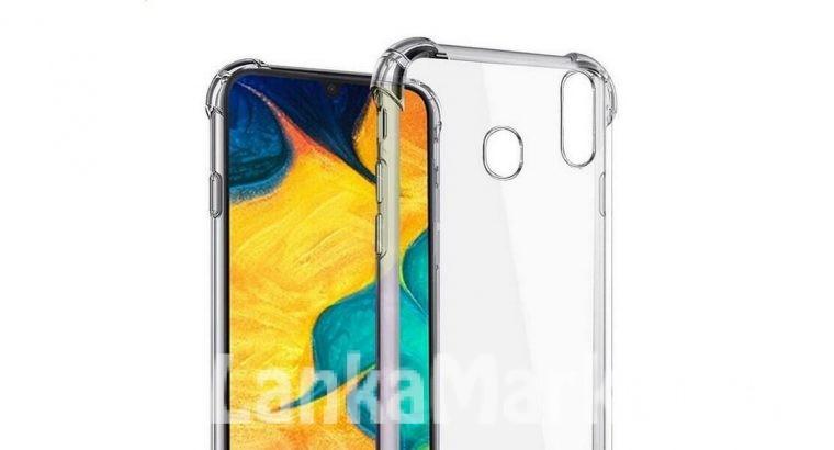 Samsung A30S Anti Burst Back Cover / Anti Burst Back Case / Clear Back Cover / Transparent Back Cover / Silicone Back Cover