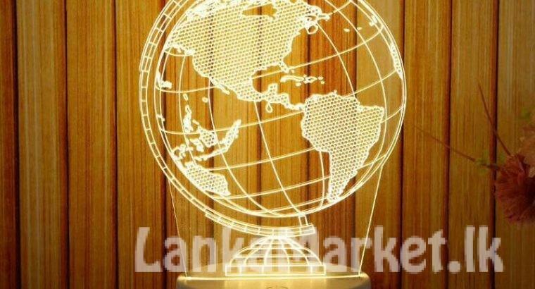 3D LED Night Lamp – Globe Design