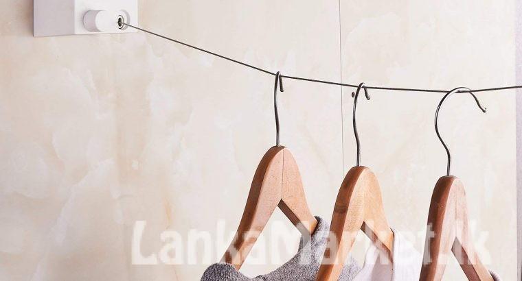 Retractable Indoor Clothes Wall Hanger Magic Drying Rack Balcony Bathroom Invisible Clothesline