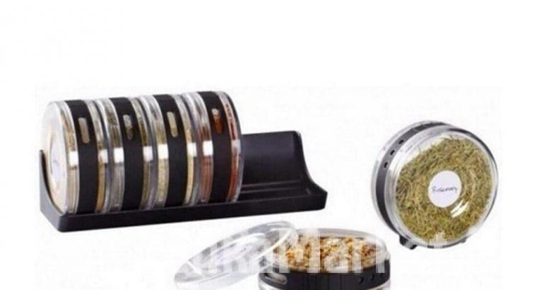 Cylinder Spice Rack 6pcs / Cylindric Spice Rack 6pcs / 6pcs Spice rack