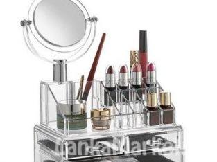 Cosmetic Organizer with Mirror (Makeup / Jewelry Organizer) – 4 Drawer