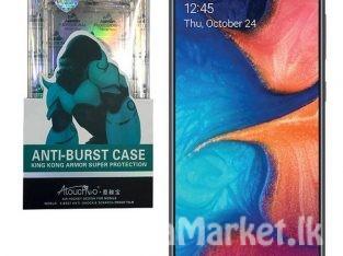 Samsung A20 Anti Burst Back Cover / Anti Burst Back Case / Clear Back Cover / Transparent Back Cover / Silicone Back Cover