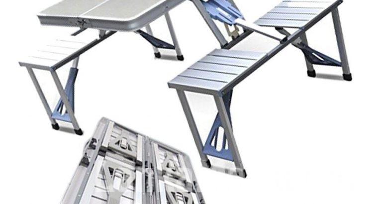 Portable Aluminium Picnic Table – White