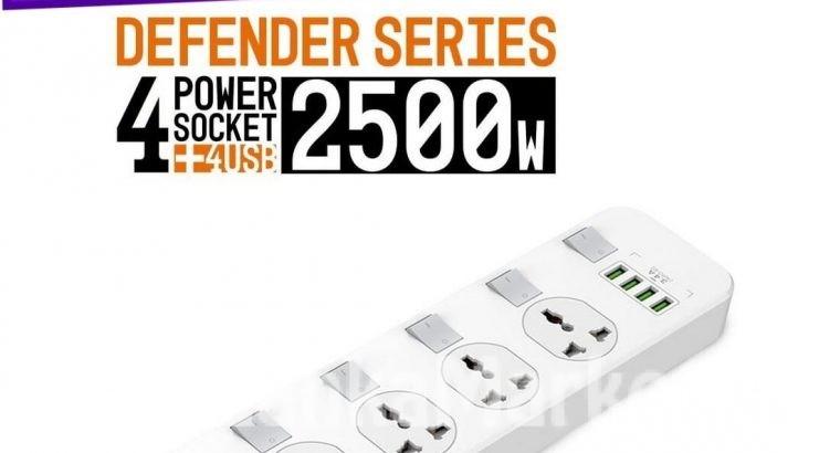 LDNIO 4 USB + 4 Socket Extension wire cord / 4 USB + 4 Power Socket