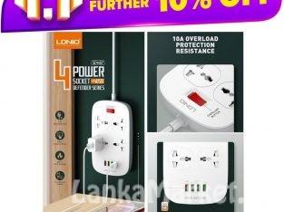 LDNIO Defender Series 4 USB + 4 Socket Extension wire cord
