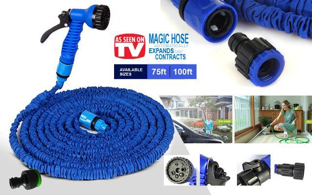 Magic Hose Expandable with Spray Gun – 50ft