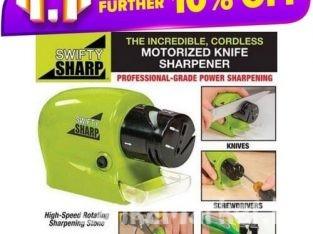 Swifty Sharp Knife Sharpener / Knife Sharpener / Swifty Sharp Cordless, Motorized Knife & Scissor Blade Sharpener
