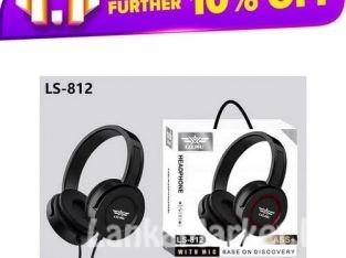 Lelisu Wired headphone with mic/ LELISU LS-812 WIRED HEADPHONE WITH MIC