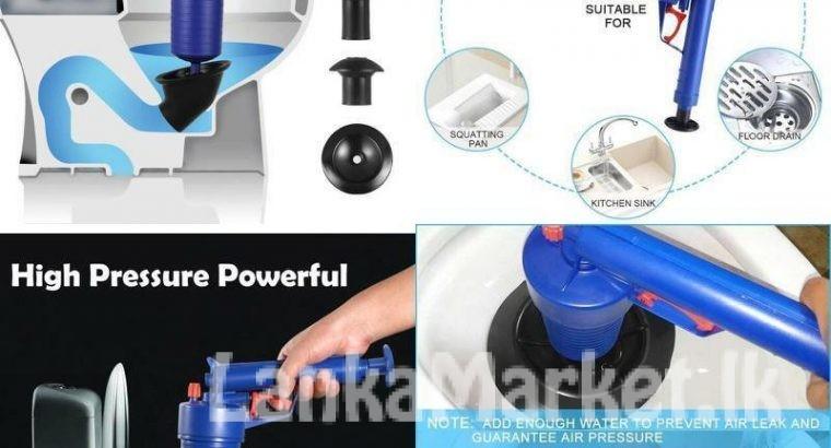 High Pressure Air Drain Blaster Pump Plunger (Toilet Plunger, Drain Clog Remover Tool)