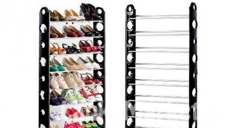 Stackable Shoe Rack – 10 tier Shoe Rack / 10 Layer Shoe Rack