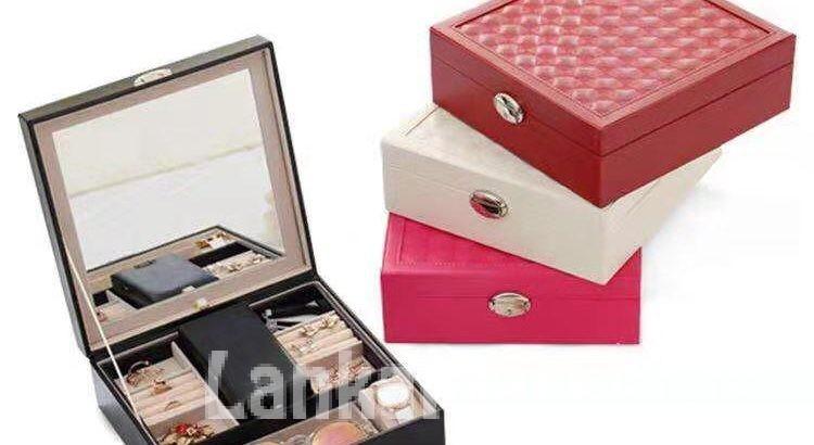 Jewelry Storage Box With Mirror