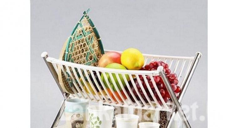 Multi-Function Kitchen Folding Rack (Kitchen Bowl Rack/Kitchen Dish Rack) – 2 tier or 2 Layer