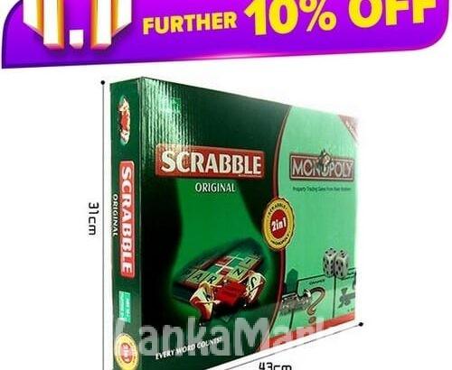 2 In 1 Scrabble & Monopoly – Board Games