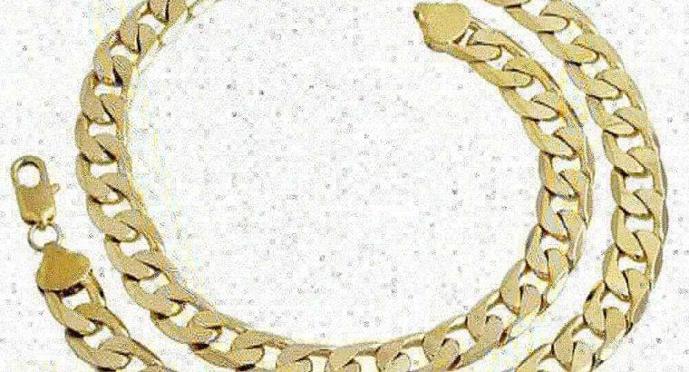 18K gold plated cuban chain
