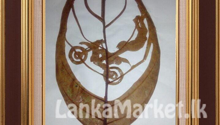 Jack fruit leaf ( කොස් කොල ) Art