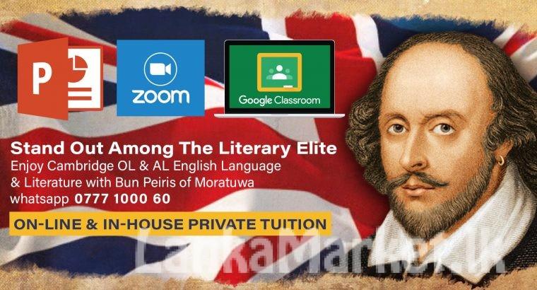 Cambridge OL & AL English language and literature.