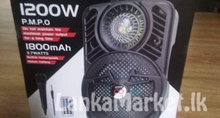bluetooth portable rechargable karoke speaker
