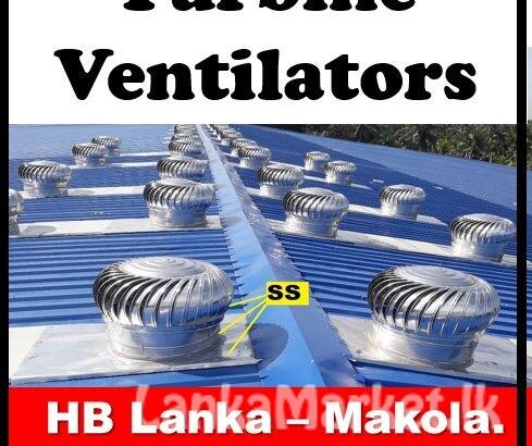 Exhaust fan srilanka, turbine ventilators srilanka