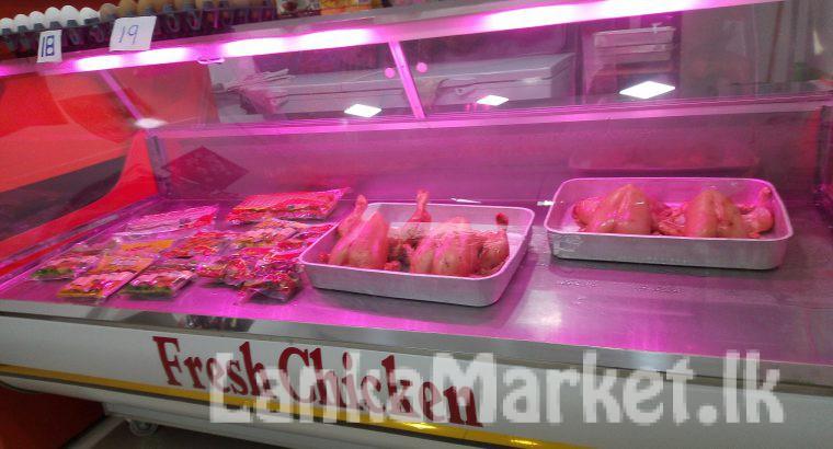 chicken and fish display freezer
