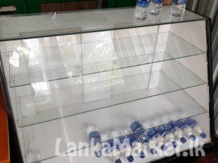 Glass showcase for sale