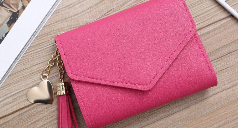 Women wallets cute tassel heart